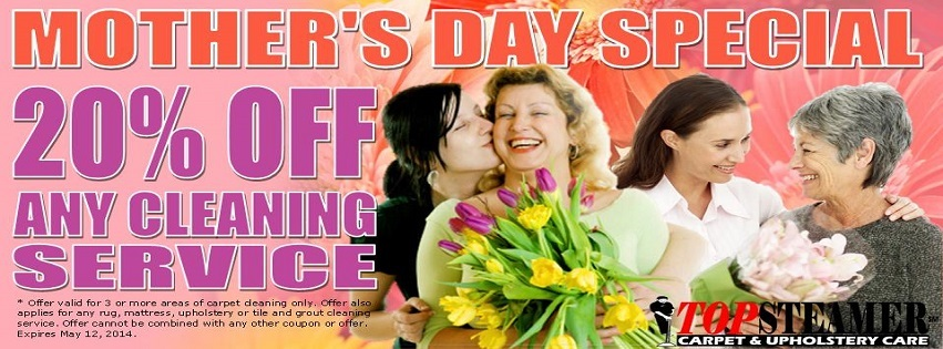Mother's Day Carpet Cleaning Specials!